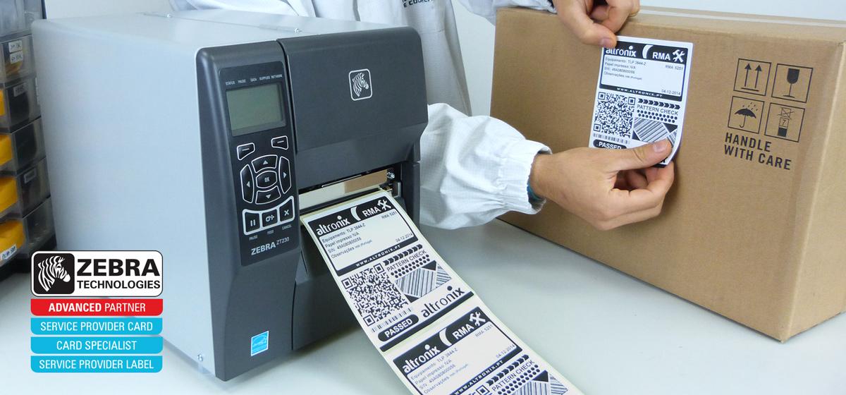 Impressoras de etiquetas Zebra Technologies