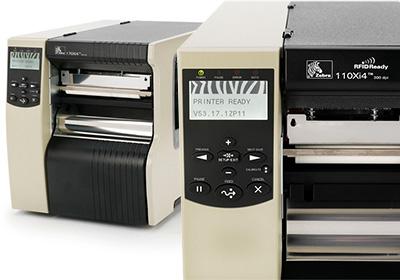 Impressoras de etiquetas Zebra Série Xi